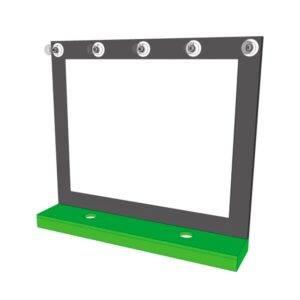 Coiffeuse avec LED et miroir