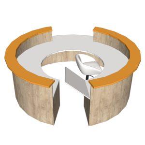 Comptoir circulaire 1 bloc
